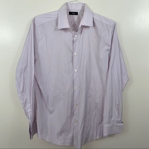 THEORY Lilac Button Down Shirt